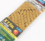 Kmc Z99 X10EL X10.93 X11EL Extra Light double X chain 9 10 11 speed mtb road bike bicycle chain titanium gold silver color-ASTROSHADEZ.COM-X11EL Gold-ASTROSHADEZ.COM