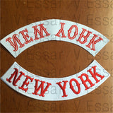 Motorcycle Club NEW YORK Custom Bottom Rocker Red Font Embroidery-ASTROSHADEZ.COM-ASTROSHADEZ.COM