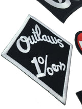 OUTLAWS CHICAGO MC MOTORCYCLE PATCH SET IRON ON-ASTROSHADEZ.COM-ASTROSHADEZ.COM