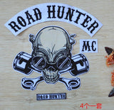 ROAD HUNTER MC PATCH SET MC BIKER IRON ON VEST JACKET-ASTROSHADEZ.COM-ASTROSHADEZ.COM