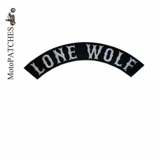 LONE WOLF IRON ON PATCH BLACK MC BIKER VEST JACKET-ASTROSHADEZ.COM-ASTROSHADEZ.COM