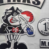 FINKS GERMANY MC Biker Patch Set Iron On Vest Jacket-ASTROSHADEZ.COM-ASTROSHADEZ.COM