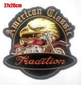 AMERICAN CLASSIC TRADITION EAGLE MC Biker Patch Set Iron On Vest Jacket Rocker-ASTROSHADEZ.COM-ASTROSHADEZ.COM