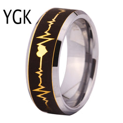 EKG ECG ELECTROCARDIOGRAM Fashion Tungsten CARBIDE Ring WEDDING-ASTROSHADEZ.COM-ASTROSHADEZ.COM