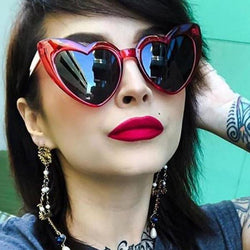 Unisex 'Lover' Large Heart Shaped Sunglasses Astroshadez-ASTROSHADEZ.COM-ASTROSHADEZ.COM