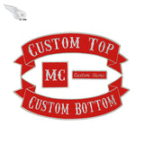 CUSTOM 4pc MC Biker Patch Set Iron On Vest Jacket Rocker Hells-ASTROSHADEZ.COM-Red-ASTROSHADEZ.COM