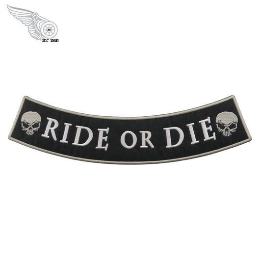 Ride or die MC Biker Patch Set Iron On Vest Jacket Rocker Hells LARGE XL-ASTROSHADEZ.COM-ASTROSHADEZ.COM