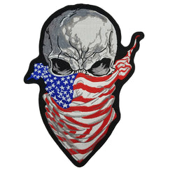 Skull Flag Bandana American US MC Biker Patch Set Iron On Vest Jacket Rocker Hells LARGE XL-ASTROSHADEZ.COM-ASTROSHADEZ.COM