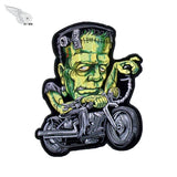 LARGE ZOMBIE FRANKENSTEIN MC Biker Patch Set Iron On Vest Jacket Rocker Hells green-ASTROSHADEZ.COM-ASTROSHADEZ.COM