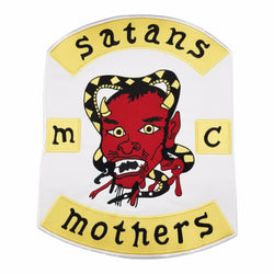 Satans mothers MC Biker Patch Set Iron On Vest Jacket Rocker Hells-ASTROSHADEZ.COM-ASTROSHADEZ.COM
