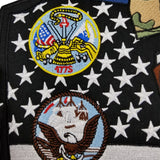 SUPPORT OUR TROOPS POW MIA ARMY NAVY MC Biker Patch Set Iron On Vest Jacket Rocker Hells XL-ASTROSHADEZ.COM-ASTROSHADEZ.COM