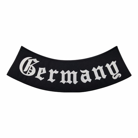 Germany outlaw black MC Biker Patch Set Iron On Vest Jacket Rocker Hells-ASTROSHADEZ.COM-ASTROSHADEZ.COM