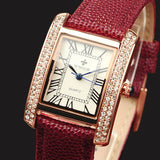 WWOOR 2016 New Brand Fashion Women Watches Quartz Watch Diamonds Dress Ladies Casual Crystal Sports Wristwatch Leather strap Red-ASTROSHADEZ.COM-ASTROSHADEZ.COM