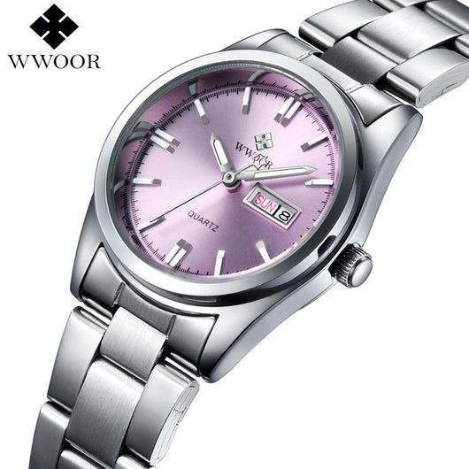 New Brand Relogio Feminino Date Day Clock Female Stainless Steel Watch Ladies Fashion Casual Watch Quartz Wrist Women Watches-ASTROSHADEZ.COM-ASTROSHADEZ.COM