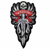 CHOPPERS SKULL MC MOTORCYCLE BIKE IRON PATCH LARGE-ASTROSHADEZ.COM-ASTROSHADEZ.COM