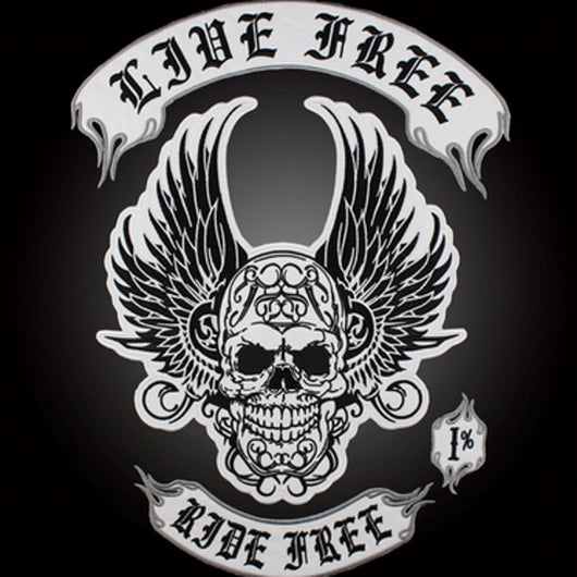 LIVE FREE RIDE MC Biker Patch Set Iron On Vest Jacket Rocker Hells LARGE-ASTROSHADEZ.COM-ASTROSHADEZ.COM