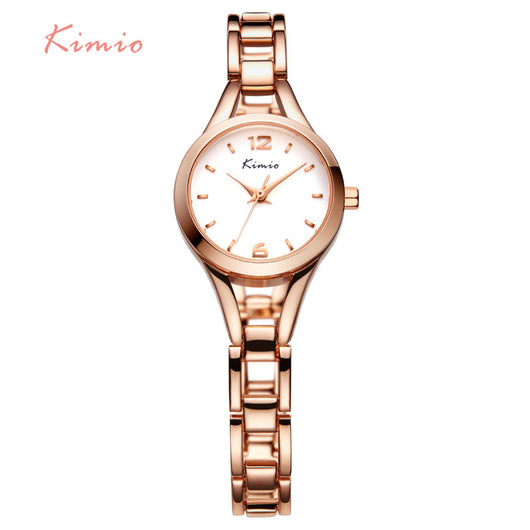 KIMIO Ladies Simple Small Round Dial Rose Gold Skeleton Bracelet Womens Watches 2016 Top Brand Casual Quartz Watch Waches Women-ASTROSHADEZ.COM-ASTROSHADEZ.COM