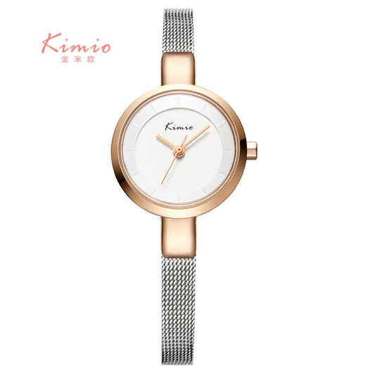 KIMIO Small Round Dial Woven Mesh Band Quartz Women Watch Famous Luxury Brand 2016 Simple Casual Ladies Wrist Watches For Women-ASTROSHADEZ.COM-ASTROSHADEZ.COM