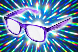 Transparent Purple w/ Clear Diffraction Glasses Astroshadez