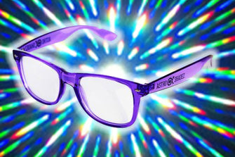 Transparent Purple w/ Clear Diffraction Glasses Astroshadez-Other Unisex Clothing & Accs-Astroshadez-Purple-ASTROSHADEZ.COM