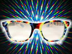 Tie Dye Frame w/ Clear Diffraction Glasses Astroshadez-Glasses-Astroshadez-Tie Dye-ASTROSHADEZ.COM