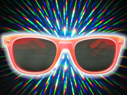 Pink Glow-in-the-Dark w/ Tinted Diffraction Glasses Astroshadez