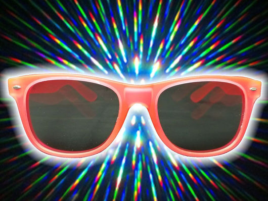 Pink Glow-in-the-Dark w/ Tinted Diffraction Glasses Astroshadez-Other Unisex Clothing & Accs-Astroshadez-Pink-ASTROSHADEZ.COM
