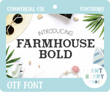 Load image into Gallery viewer, FARMHOUSE BOLD FONT