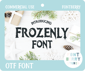FROZENLY FONT