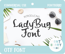 Load image into Gallery viewer, LADYBUG FONT