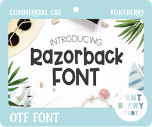 Load image into Gallery viewer, RAZORBACK FONT