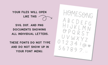 Load image into Gallery viewer, HOMESONG SKETCH FONT