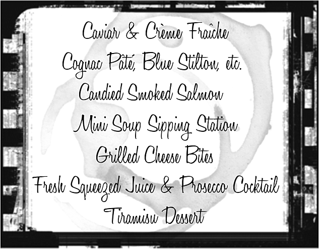 Audrey Would 2016 Oscar Night Menu