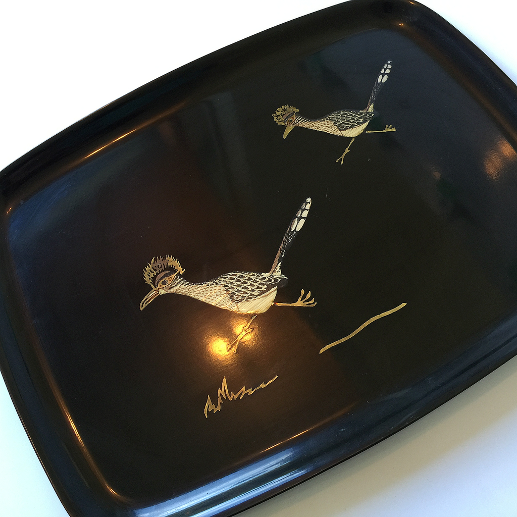 Audrey Would Vintage Home Courac Roadrunner Tray