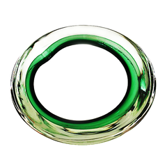 Murano Glass Ashtray, Green Art Glass Bowl, Blown Glass, Mid Century Modern Decor