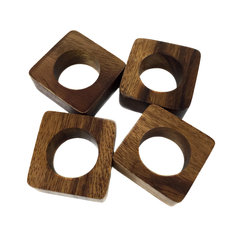 Wooden Danish Modern Napkin Rings