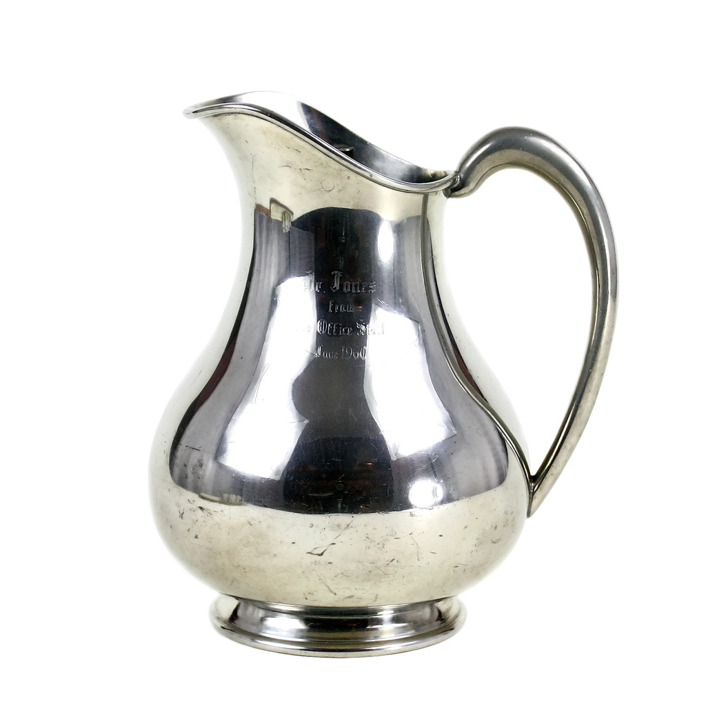 Vintage Sheffield Water Pitcher, Pewter, 1960s