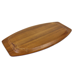 Large Kalmar Teak Wood Serving Tray, Mid-Century Vintage