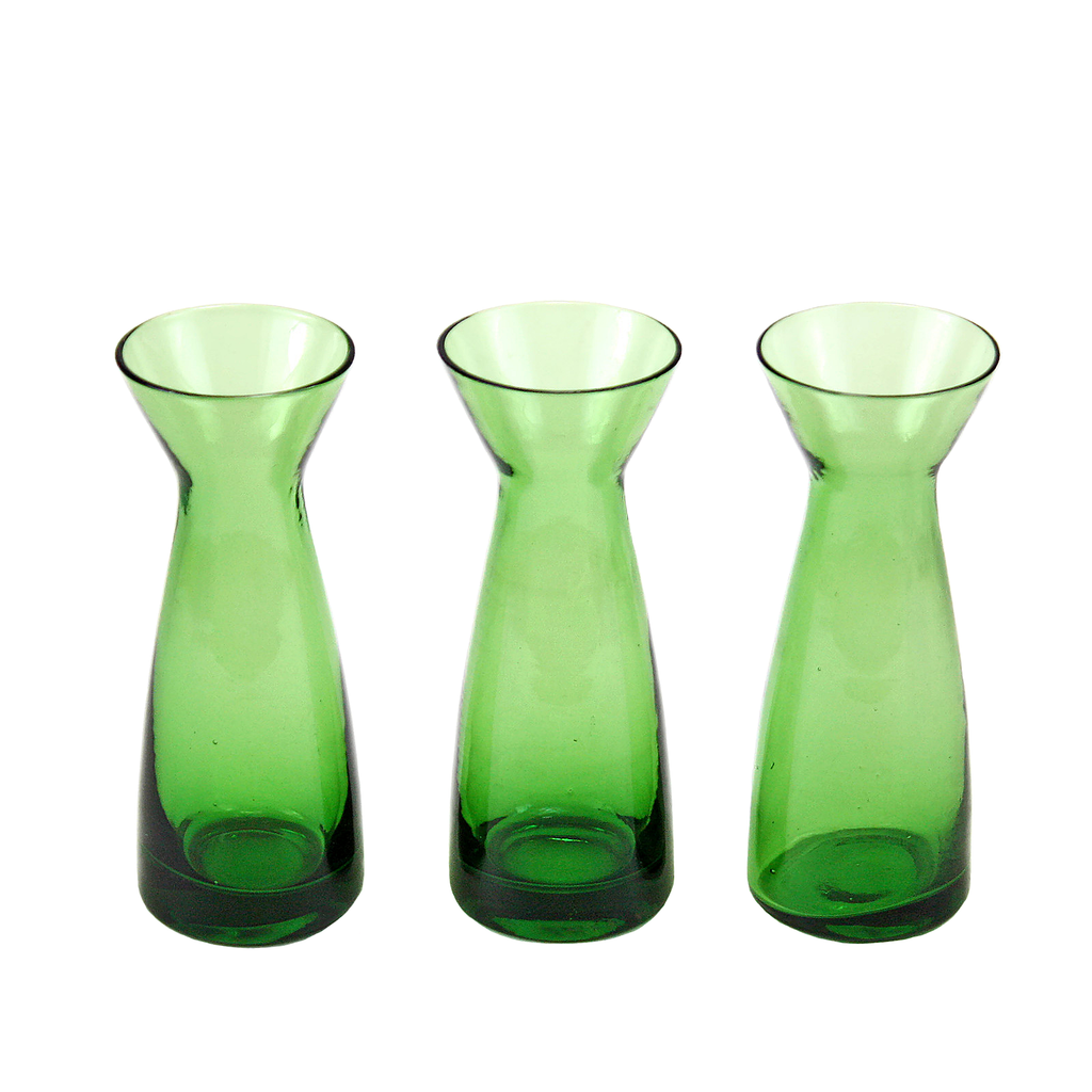 Vintage bud vase trio emerald green hand poured glass audrey vintage bud vase trio emerald green hand poured glass reviewsmspy