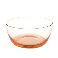 Small Salmon Pink Glass Bowl, Vintage