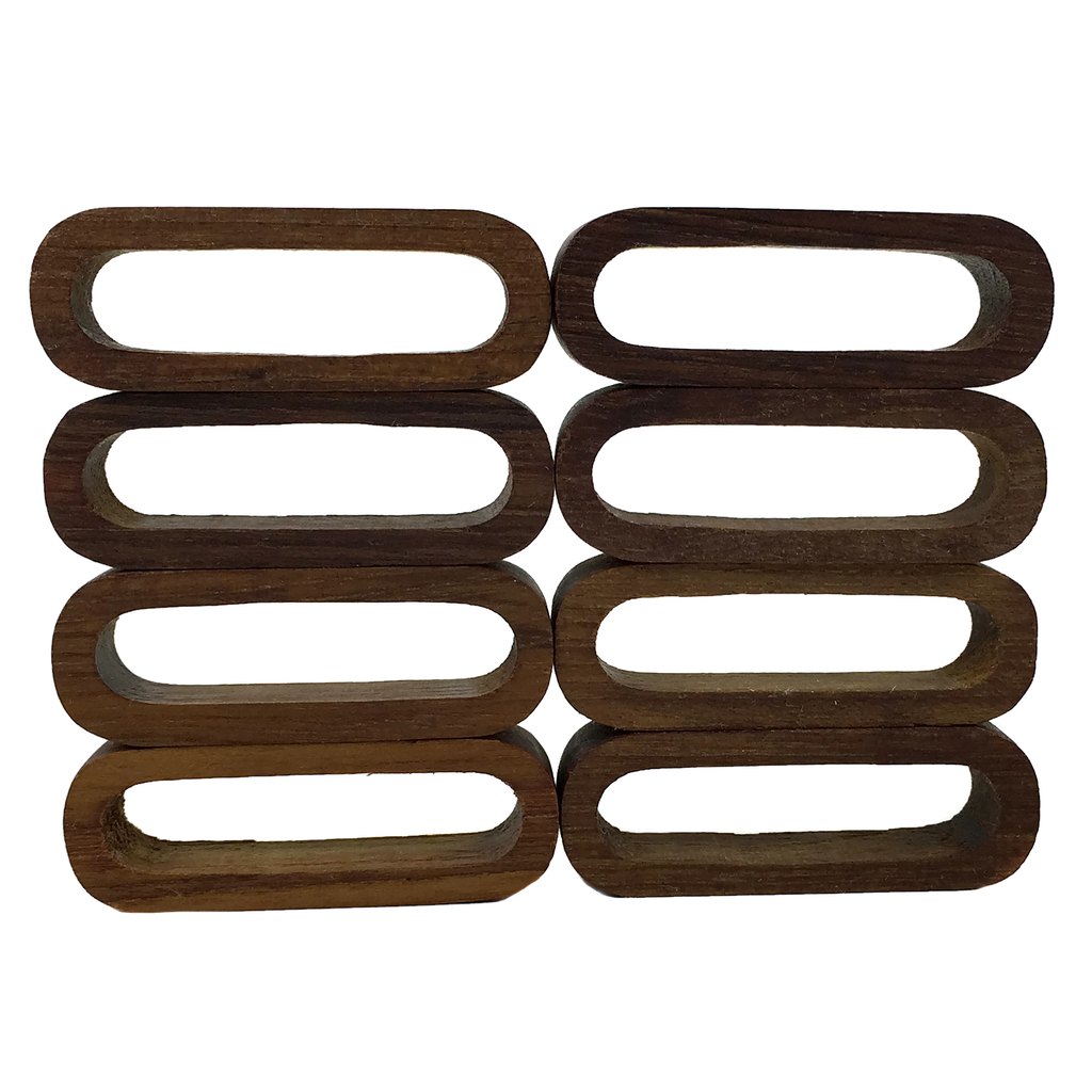 Oval Wooden Napkin Rings, Classic Mid Century Modern