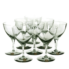 Mid century set of Dartington cocktail coupes