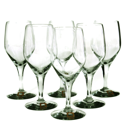Dartington Sherry Glasses, Hand Blown Crystal, Smokey Black, Mid Century