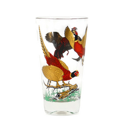 Red Pheasant Highball Glasses, Hazel Atlas