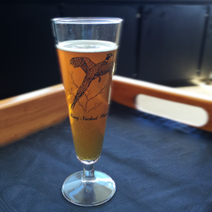 Vintage Pilsner Beer Glass featuring Ring Neck Pheasant Game Bird.
