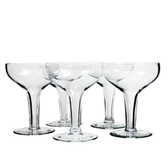 Set/5 Hollow Stem Champagne Coupes