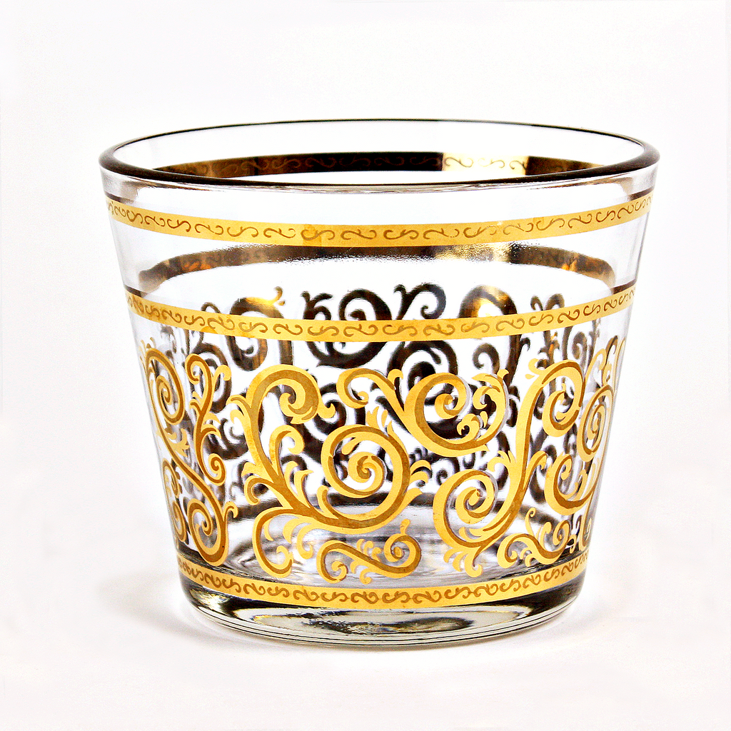 Georges Briard Gold Filigree Ice Bucket
