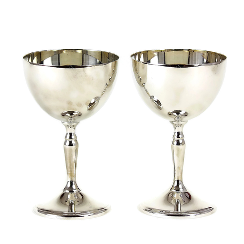 Vintage Viking Wine Goblets, Silver Plate, Canada