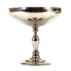 Vintage Silver Champagne Coupes, Spain, Set of 2
