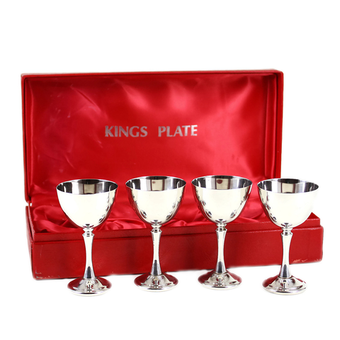 Sherry Glasses, Kings Plate Silver Plate, Canada